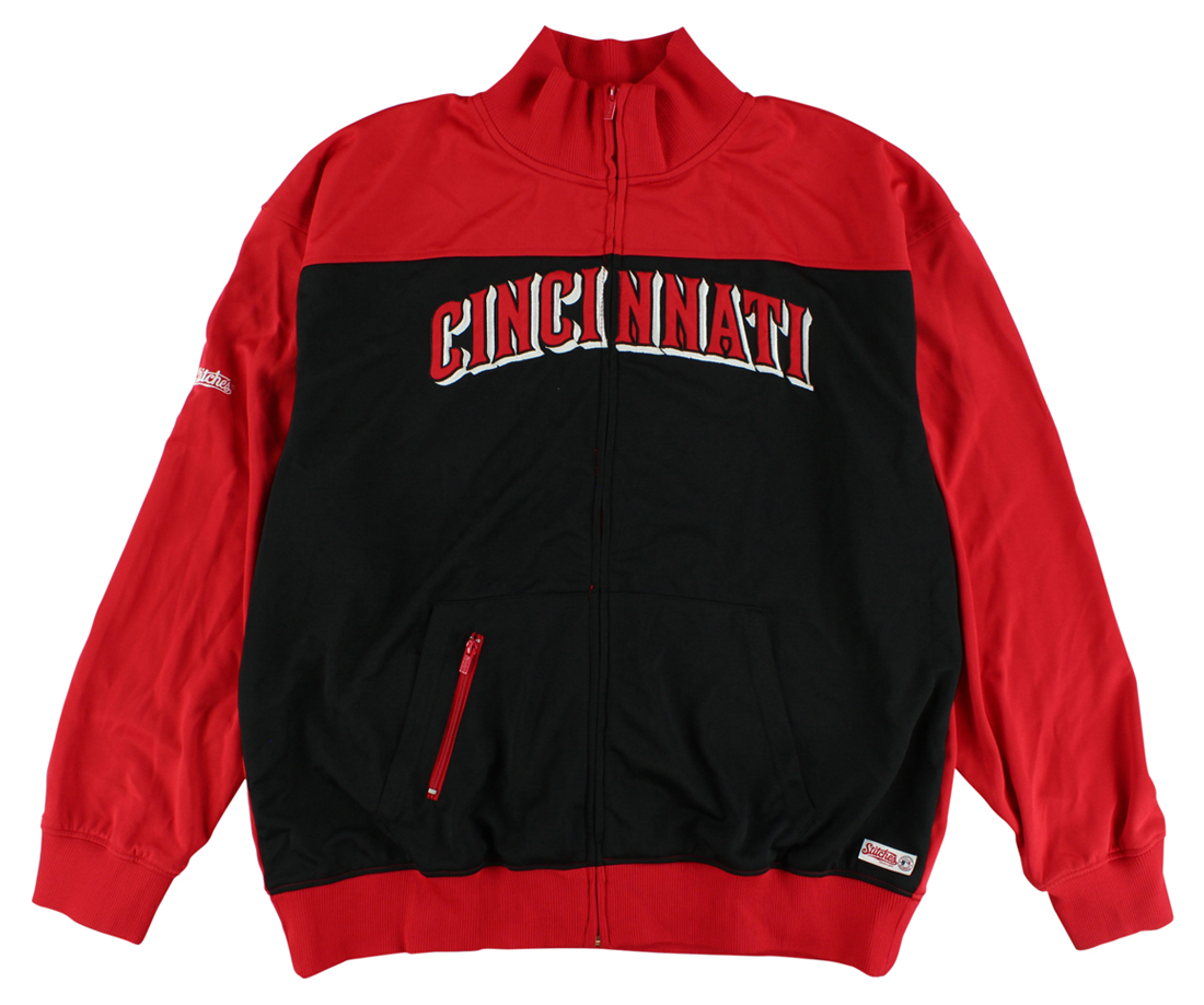 Stitches Mens Cincinnati Reds Baseball Jacket Red by