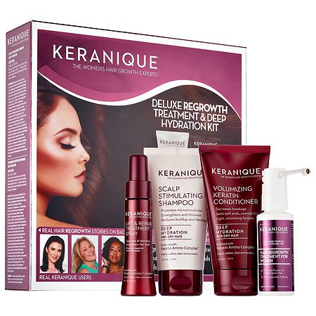 Keranique Deluxe Regrowth Treatment And Deep Hydration Kit