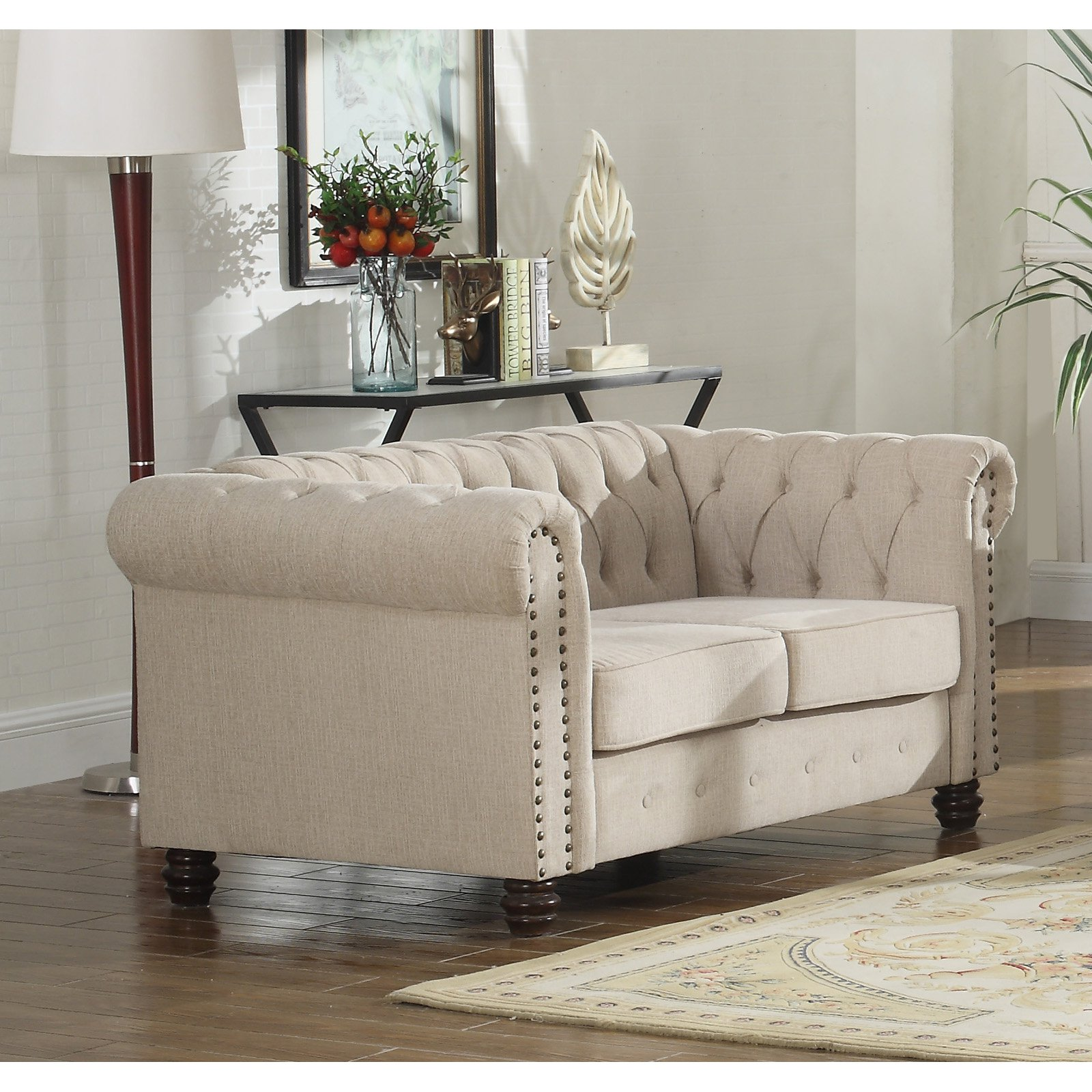 Best Master Furniture Venice Upholstered Loveseat