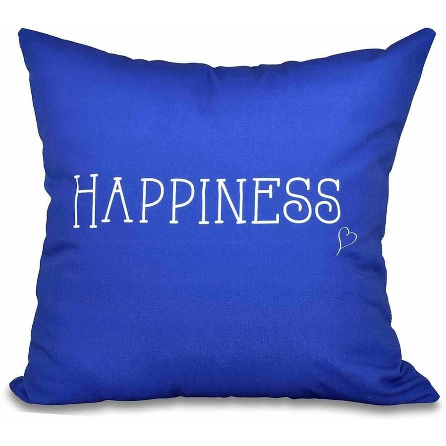 "Simply Daisy 16"" x 16"" Happiness Word Print Pillow"