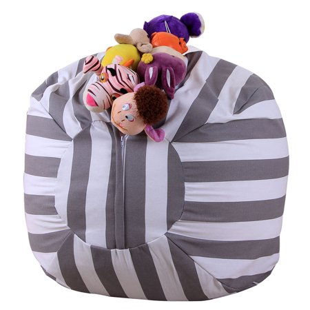 Groovy Stuffed Animal Storage Bean Bag Chair Canvas Toys Stuffed Animals Storage Bean Bag Large Capacity Kids Toy Buggy Bag Clothes Towels Organizer Tool Squirreltailoven Fun Painted Chair Ideas Images Squirreltailovenorg