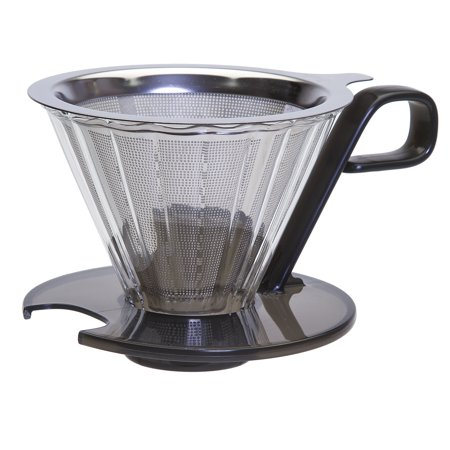Primula Seneca Temperature Safe Glass Pour Over Coffee Dripper with Stainless Steel Filter
