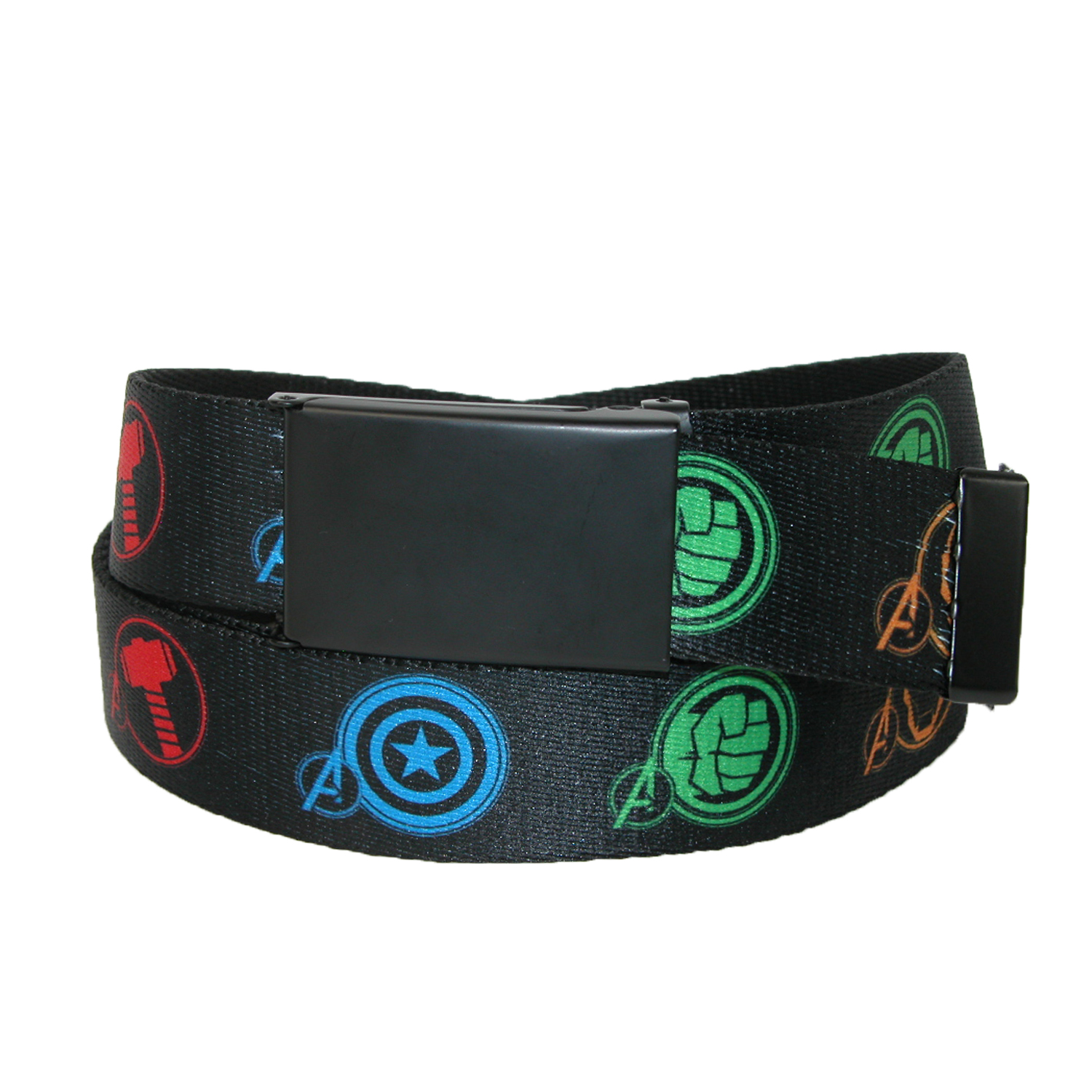 Buckle Down  Big & Tall Marvel Avengers Adjustable Fabric Belt