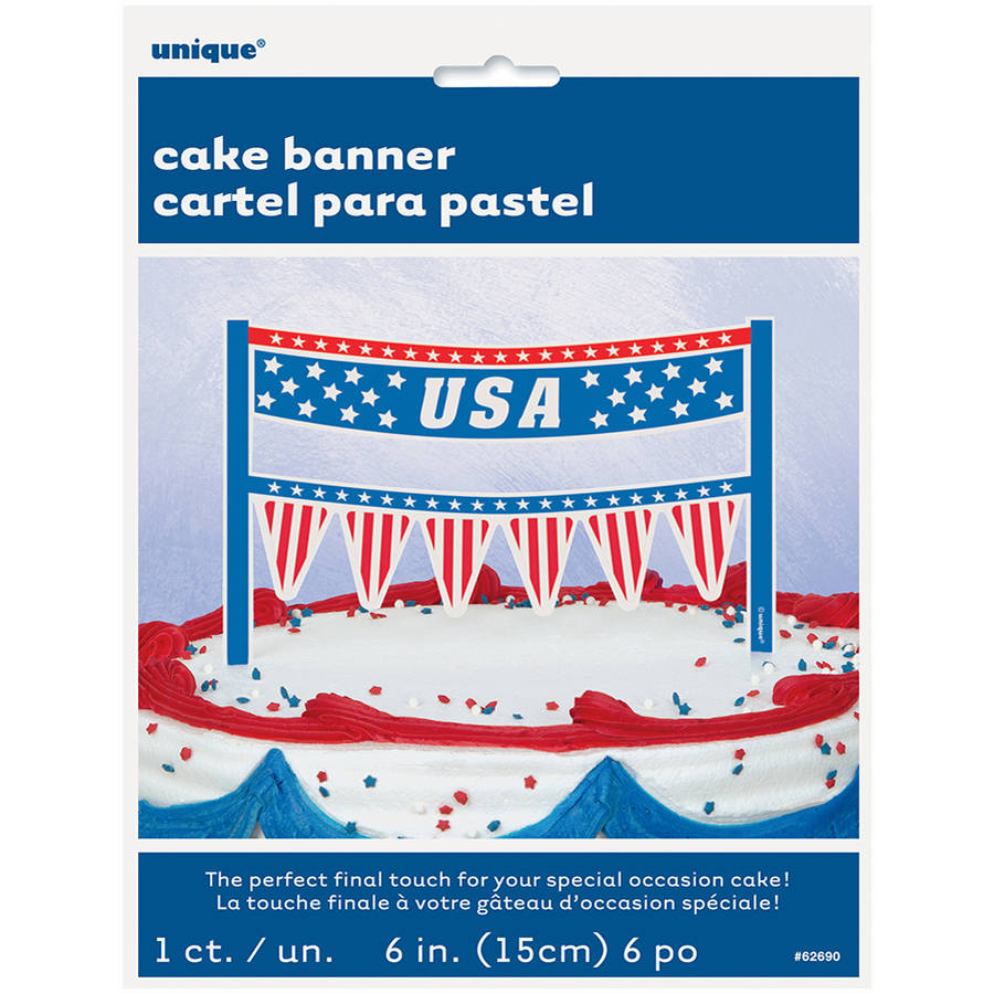 USA Patriotic Cake Bunting Topper