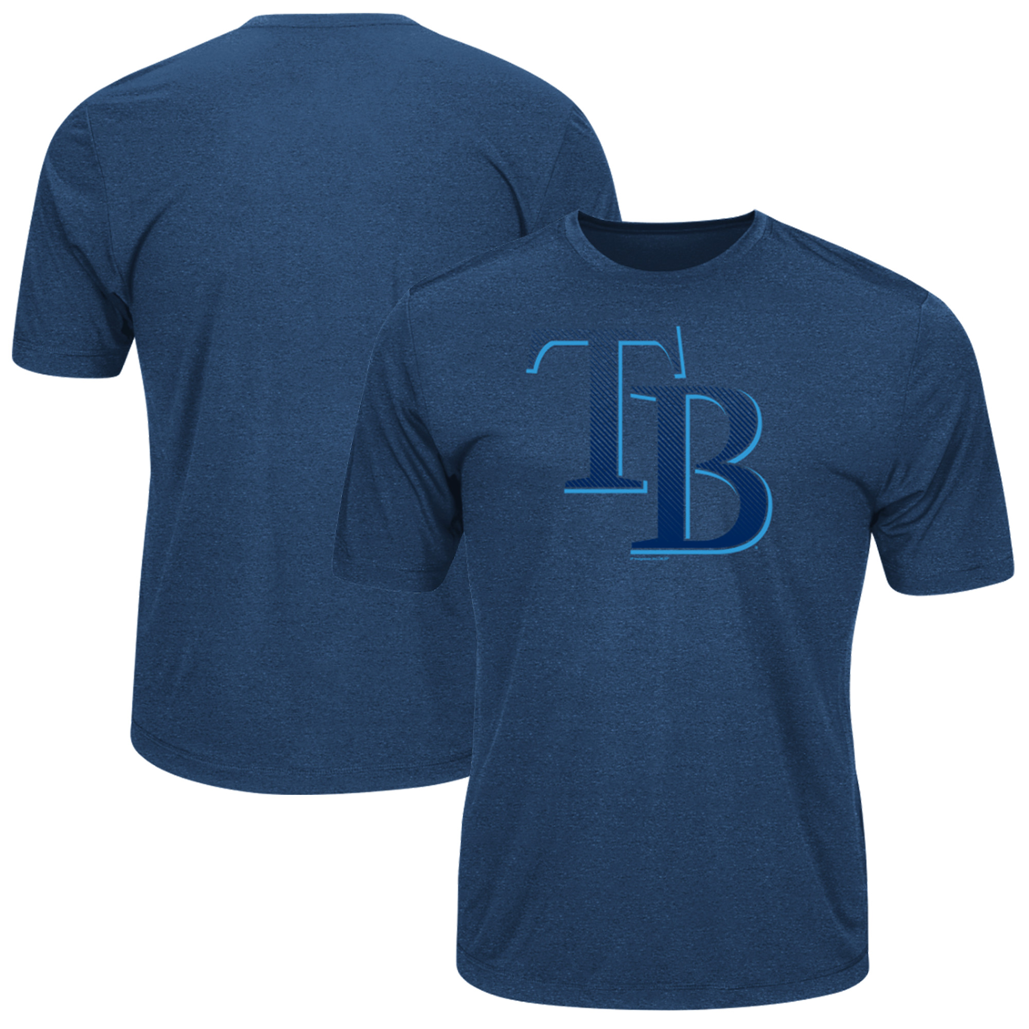 Men's Majestic Navy Tampa Bay Rays Big & Tall Statement Logo T-Shirt