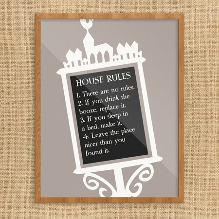 House Rules Sign Print (House Rules Signs)