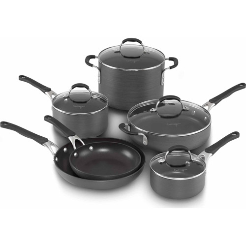 cooking with calphalon nonstick 10piece cookware set