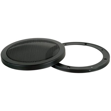 """Parts Express Steel Mesh 2-Piece Grill for 5-1/4"""" Speaker Black"""