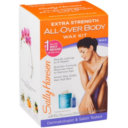 2 Pack - Sally Hansen Extra Strength All-Over Body Wax Hair Removal Kit 1 ea