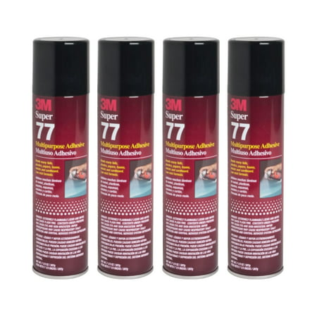 QTY 4 3M 7.3 oz SUPER 77 SPRAY Glue Multipurpose Adhesive for Bonding Polyvinyl