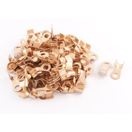 40a Cable - Unique Bargains 100 Pcs Open Cable Connector Ring Tongue Copper Passing Through Lug Terminal 40A
