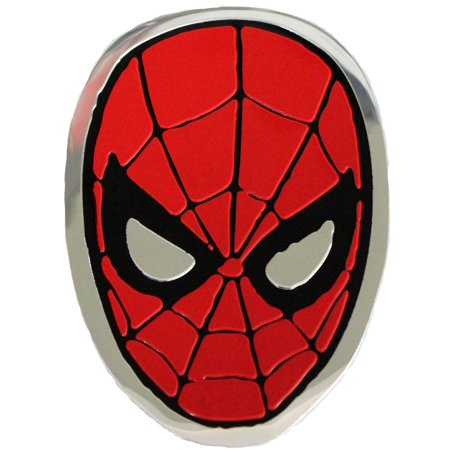 - Officially Licensed, Spiderman Spidey Head Metal Sticker, 8cm, Silver