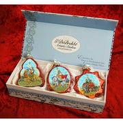 G Debrekht Keepsake 3 Piece Three Kings Glass Ornaments Set