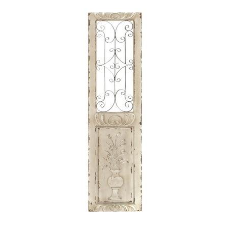 52733 Wood Metal Wall Panel Decor