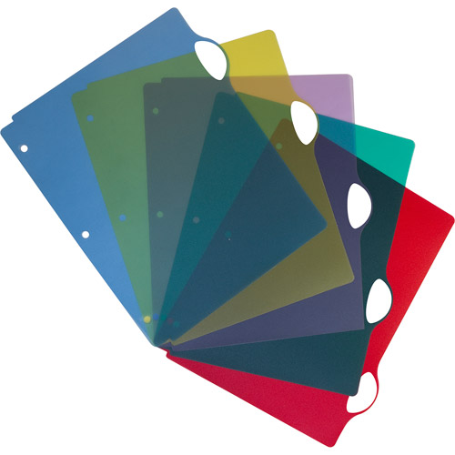 Storex Poly Divider Set, Writeable Tabs, Assorted Colors, Case of 25