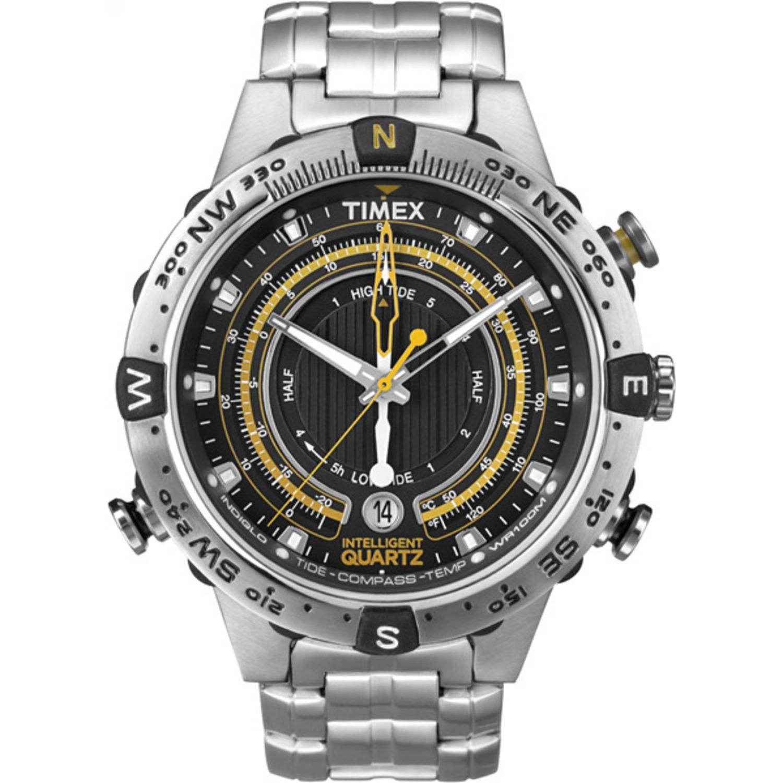 Men's Chronograph Tide Temperature Compass Timex Intelligent Quartz T2N738