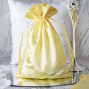 """Efavormart 12PCS Satin Gift Bag Drawstring Pouch for Wedding Party Favor Jewelry Candy Solid Satin Bags - 6""""x 9"""""""