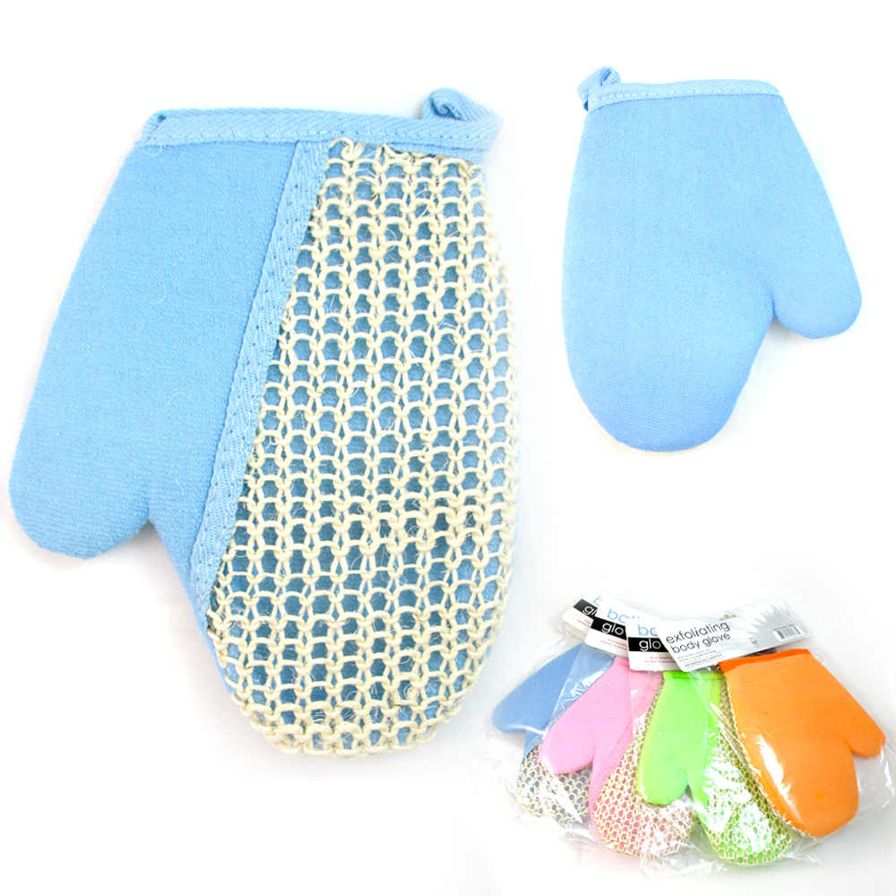 1 Exfoliating Bath Glove Natural Sisal Shower Sponge Cleansing Body Scrubber !