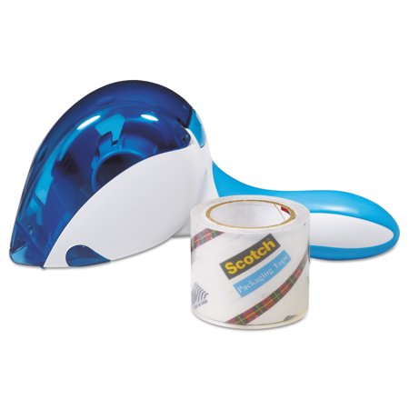 Scotch Sure Start Tape with Easy Grip Packaging Tape Dispenser, 1.88 in. x 600 in., 1 Dispenser/Pack
