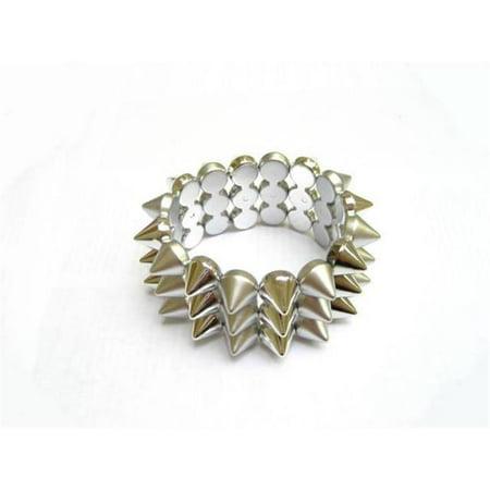 Alur Jewelry 16200SV Plastic Spike Bracelet in Silver - image 1 of 1