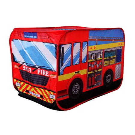 Poco Divo Fire Engine Truck Pop Up Play Tent Kids Pretend