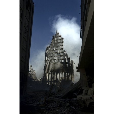 LAMINATED POSTER World Trade Center Terrorist Attack Twin Towers Poster Print 24 x