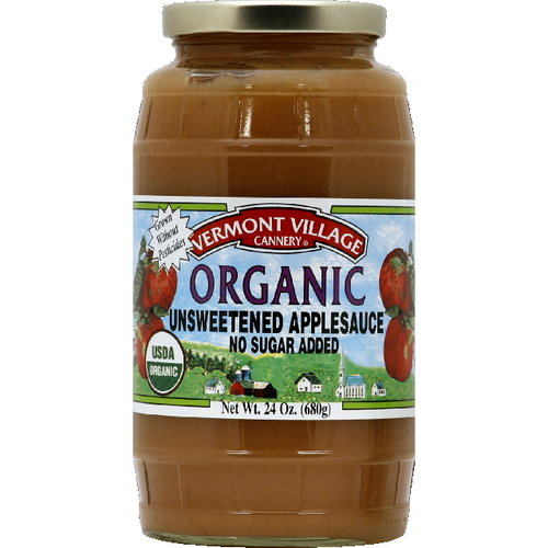 Vermont Village Cannery Unsweetened Applesauce, 24 oz (Pack of 6)