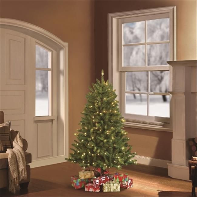 Puleo 4.5 ft. Pre-Lit Fraser Fir Artificial Christmas Tree with 250 Clear UL Lights