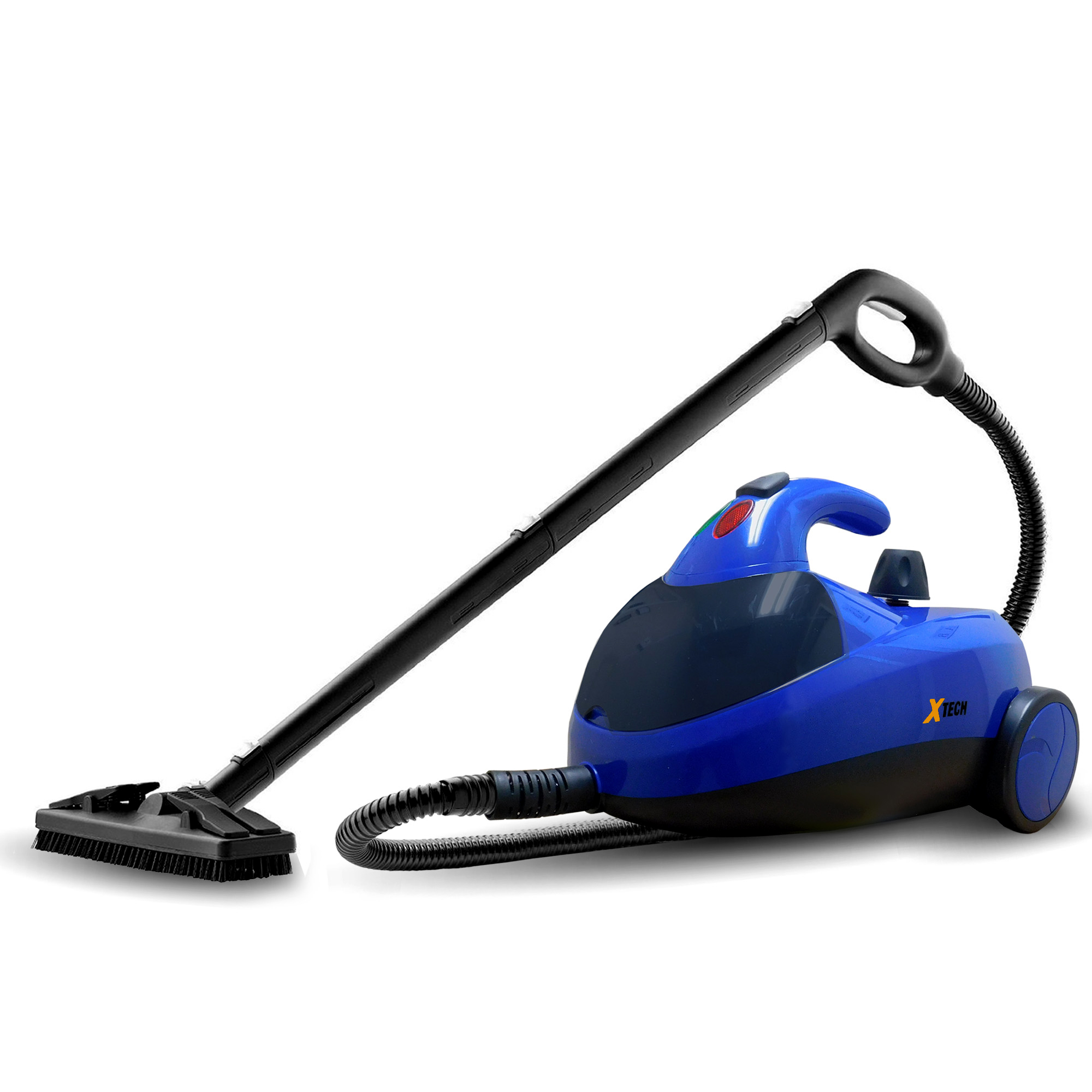 Xtech XHSC-200 Canister Steam Cleaner Heavy-Duty 1500watts 50 oz. Steamer with 13 Assorted Attachments and Accessories