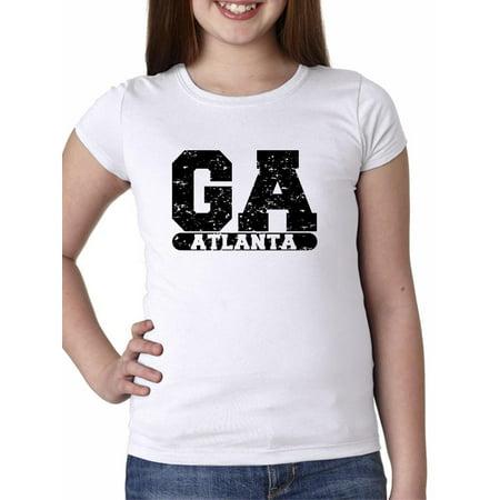 Atlanta, Georgia GA Classic City State Sign Girl's Cotton Youth (Kids Atlantic City)
