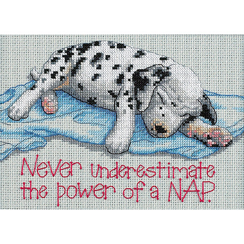 """Dimensions Jiffy Power Nap Mini Counted Cross Stitch Kit, 7"""" x 5"""", 16 Count"""
