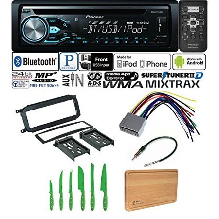 - PIONEER CAR STEREO RADIO BLUETOOTH CD PLAYER DASH INSTALL MOUNT HARNESS ANTENNA CHRYSLER, DODGE, JEEP