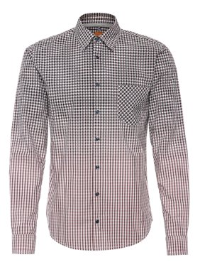 7776985ac Product Image Hugo Boss EnameE Slim Fit Cotton Ombre Printed Button Down  Shirt L Light Pink