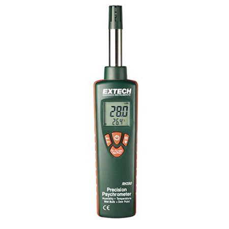P0250 Mini Hygro Thermometer - Extech RH390 Precision Dual Display Hygro Thermometer Psychrometer