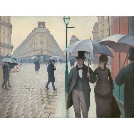 Rainy Day Gallery (Paris Street rainy day 1877 Canvas Art - Gustave Caillebotte (18 x 24) )