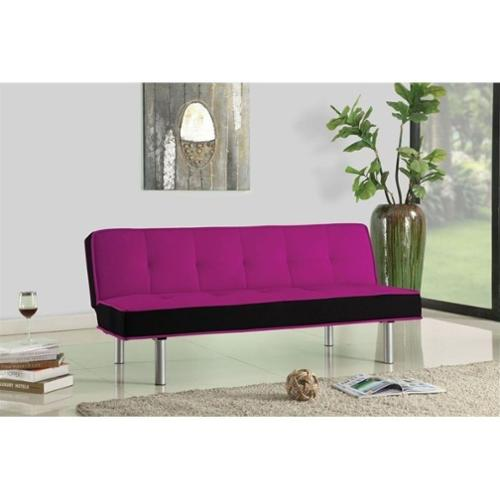 ACME Furniture Hailey Fabric Sofa in Pink and Black