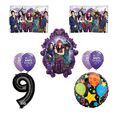 Disney The Descendants 2 Happy 9th Birthday Party Supplies Balloon