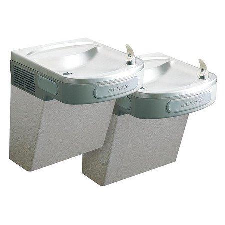 Bi Level Filter - Elkay Wall Mount Bi Level Versatile 8 GPH Indoor Water Cooler Fountain, Gray