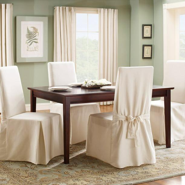 Sure Fit Cotton Duck Dining Chair Slipcover Walmart Com Walmart Com