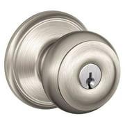 SCHLAGE F51A GEO 619 Knob Lockset,Mechanical,Entrance,Grd. 1