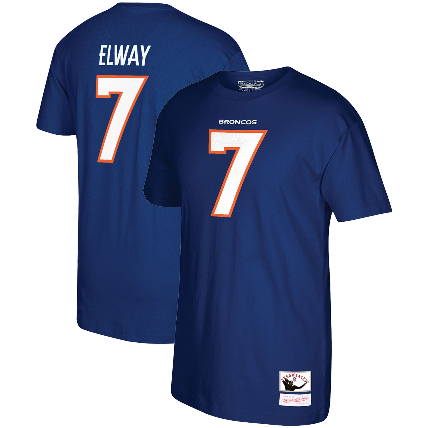 John Elway Denver Broncos Mitchell & Ness Retired Player Name and Number T-Shirt - Navy