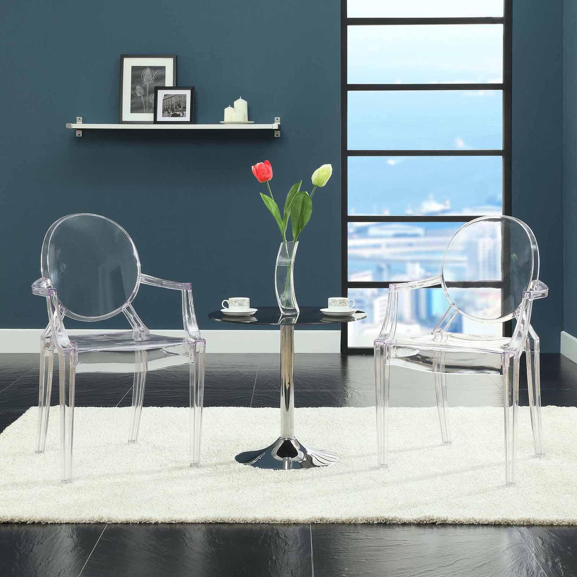 Modway Casper Dining Armchair Multiple Colors Walmart – Clear Arm Chair