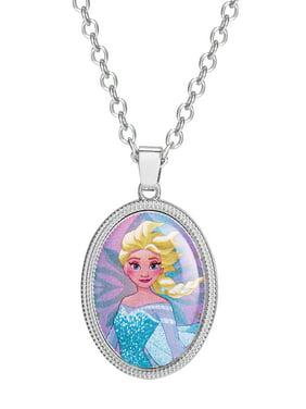 "Disney Frozen Elsa Oval Pendant 16"" + 2"" Chain"