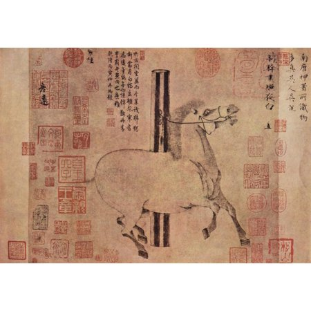 Framed Art for Your Wall Han Kan - The horse