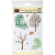 JustRite Papercraft Clear Stamps 4 Inch X 6 Inch-Multi-Step Season