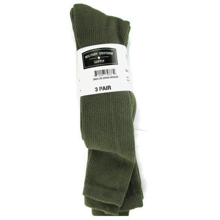Men's Anti-Microbial Military Boot Socks Olive Drab - 3 Pair -