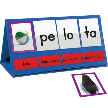 Spanish Word Building Desktop Pocket Chart Tent & Cards Kit