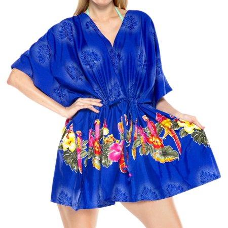 9963c99226ee2 LA LEELA - Robe CAFTAN Beachwear Swimsuit Dresses Swimwear Bikini Cover ups  Tunic Top M-4X - Walmart.com