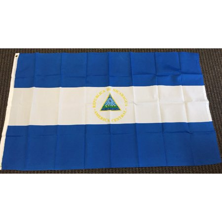 3x5 Nicaragua Flag Nicaraguan Banner Central American Pennant Bandera Outdoor - Outdoor Pennant Banner