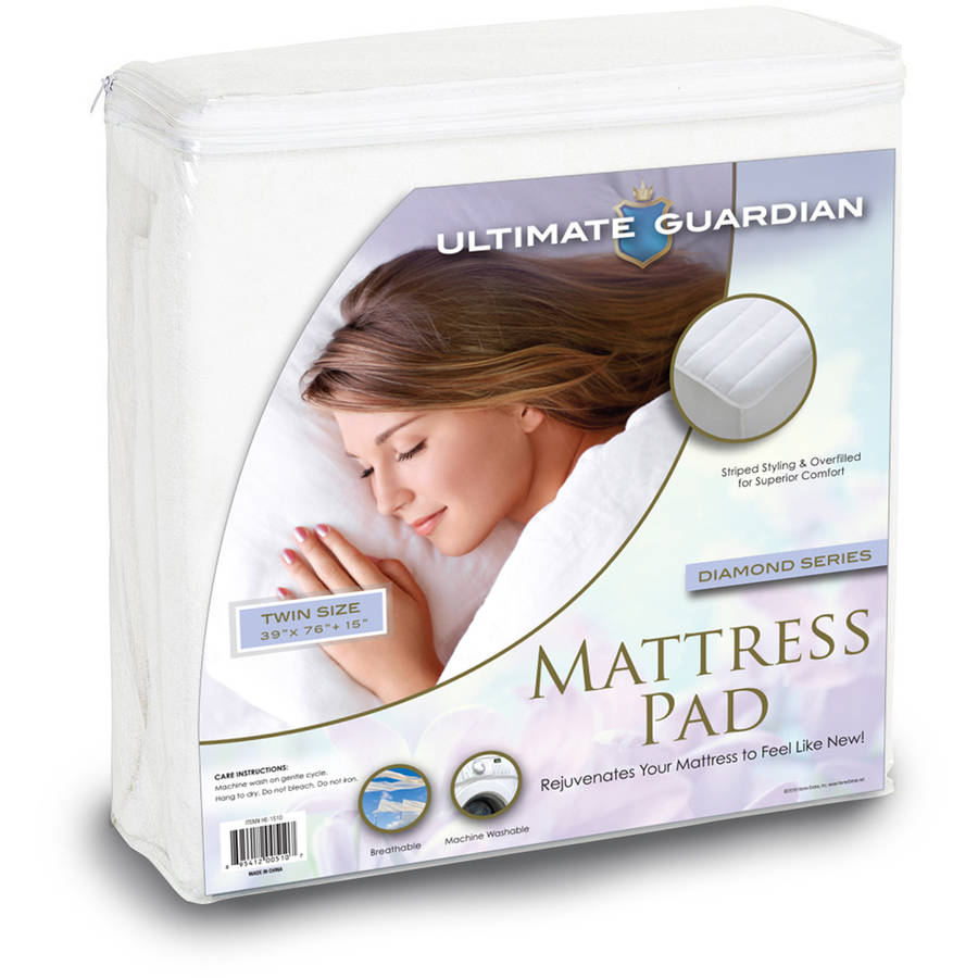 Ultimate Guardian Mattress Pad Overfilled Striped Quilt